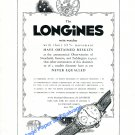 Vintage 1948 Longines Switzerland Astronomical Observatories Results Record 1940s Swiss Ad Advert