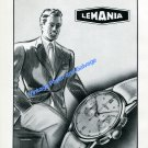 Vintage 1948 Lemania Watch Company Lugrin SA Switzerland 1940s Swiss Ad Advert Suisse