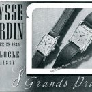 Vintage 1943 Ulysse Nardin Watch Company Switzerland 1940s Swiss Ad Advert Suisse
