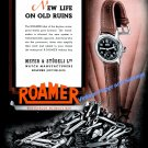 Vintage 1943 Roamer Keyless Waterproof Watch Advert 1940s Swiss Print Ad Suisse Meyer & Studeli