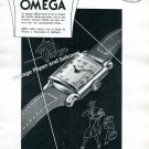 Vintage 1943 Omega Watch Company Switzerland 1940s Swiss Print Ad Advert Suisse