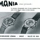 Vintage 1943 Lemania Watch Company Switzerland 1940s Swiss Ad Advert Suisse