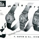 Vintage 1943 Hafis Watch Company F Suter & Co Switzerland 1940s Swiss Ad Advert Suisse