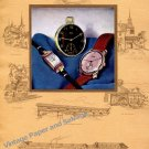 Vintage 1943 Buren Watch Company Switzerland 1940s Swiss Print Ad Advert Suisse