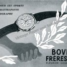 Vintage 1943 Bovet Freres & Co Watch Company Switzerland 1940s Swiss Ad Advert Suisse
