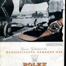 Vintage 1943 Rolex Oyster Watch Advert Geneva Birthplace of Waterproof Watch Swiss Ad Advert Suisse