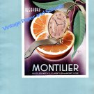 Vintage 1943 Montilier Watch Co SA Switzerland 1940s Swiss Ad Advert Suisse Schweiz