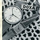 Vintage 1943 Doxa Watch Co Montres Doxa SA Switzerland Original 1940s Swiss Print Ad Advert Suisse