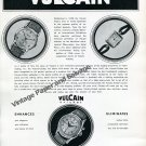 Vintage 1950 Vulcain Watch Factory Switzerland Vulcain Cricket Advert Swiss Ad Suisse