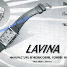 1950 Lavina Watch Company Villeret Switzerland Vintage Swiss Ad Advert Suisse