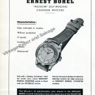 Vintage 1950 Ernest Borel Incastar Self-Winding Calendar Watch Advert Swiss Ad Publicite Suisse