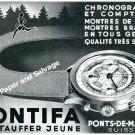 Vintage 1944 Pontifa Watch Company Ponts-de-Martel Switzerland 1940s Swiss Ad Advert Suisse
