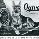Vintage 1944 Ogival Watch Company Switzerland 1940s Swiss Print Ad Advert Suisse