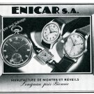 Vintage 1944 Enicar Watch Company Switzerland 1940s Swiss Print Ad Advert Suisse