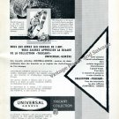 1957 Universal Geneve Tuscany Collection Watch Advert Swiss Print Ad Suisse