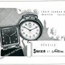 1944 Swiza Switana Alarm Clock Company Louis Schwab SA Swiss Print Ad Suisse