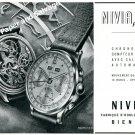 1944 Nivia Watch Company Bienne Switzerland Vintage 1940s Swiss Ad Advert Suisse