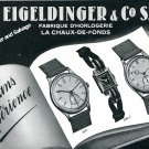 1944 Eigeldinger & Co S.A. Watch Company Switzerland Vintage Swiss Advert Suisse