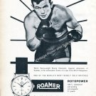 Vintage 1959 Ingemar Johansson World Heavyweight Boxing Champion Roamer Watch Co Swiss Ad Advert
