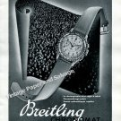 Vintage 1943 Breitling Chronomat Watch Advert 1940s Swiss Print Ad Suisse Switzerland/