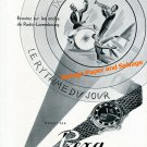 Vintage 1948 Prexa Watch Company Le Rythme du Jour Radio-Luxembourg 1940s Swiss Ad Advert Suisse