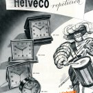 Vintage 1948 Helveco Arthur Imhof Clock Company Switzerland 1940s Swiss Ad Advert Suisse