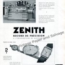 Vintage 1942 Zenith Watch Company Record Neuchatel Observatory Switzerland Swiss Ad Advert Suisse