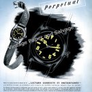 Vintage 1942 Rolex Oyster Perpetual Watch Advert Montres Rolex SA Switzerland Swiss Print Ad Suisse
