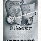Vintage 1942 Incabloc Deux Visages Une Meme Ame 1940s Swiss Advert Suisse Horlogerie Horology