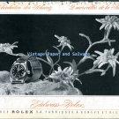 Vintage 1945 Rolex Watch Company Edelweiss-Rolex 1940s Swiss Print Ad Advert Suisse Schweiz