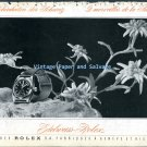1945 Rolex Watch Company Edelweiss-Rolex Vintage 1940s Swiss Print Ad Switzerland CH