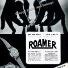 Vintage 1942 Roamer Watch Company Meyer & Studeli SA Switzerland 1940s Swiss Ad Advert Suisse