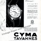 Vintage 1942 Cyma Tavannes Watch Company Switzerland Original 1940s Swiss Ad Advert Suisse