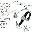 1943 Sigma Pery Watch Company Switzerland Vintage 1940s Swiss Print Ad Suisse