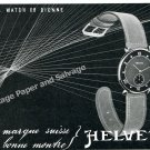 1943 Helvetia General Watch Co Bienne Switzerand 1940s Swiss Ad Advert Suisse