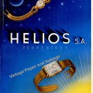Vintage 1946 Helios Watch Company Porrentruy Switzerland 1940s Swiss Print Ad Advert Suisse