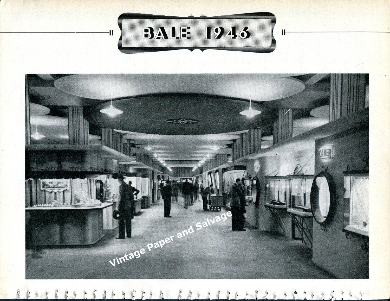 Vintage 1946 Swiss Watch Fair Basel Switzerland Exhibitor Photos Foire de Bale Suisse