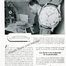 Vintage 1948 Omega Watch Company Air France Omega Automatic Watch Advert 1940s French Print Ad