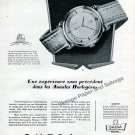 Vintage 1952 Omega Watch Company Switzerland Remarkable Performance 1950s French Ad Advert