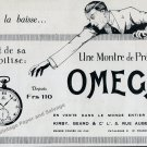 1922 Omega Watch Company Une Montre de Precision Vintage 1920s French Print Ad Advert