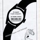 Vintage 1942 Incabloc Le Pare-Choc 1940s Swiss Ad Advert Suisse Horlogerie Horology