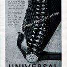 Vintage 1942 Universal Geneve Watch Company Switzerland 1940s Swiss Ad Advert Suisse