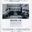 Vintage 1942 Vacheron Constantin Watch Co Switzerland Meister & Co Vintage Swiss Ad Advert Suisse