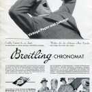 Vintage 1942 Breitling Chronomat Watch Advert Montbrillant G  Leon Breitling SA Swiss Ad Suisse