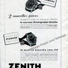 Vintage 1942 Zenith Watch Company Switzerland 1940s Swiss Ad Advert Suisse Suiza