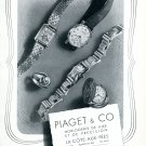 Vintage 1943 Piaget Watch Company La Cote-Aux Fees Switzerland 1940s Swiss Ad Advert Suisse