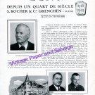 Vintage 1943 Eska Watch Company Silvain Kocher 25 Years 1918-1943 Grenchen Switzerland