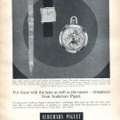 Vintage 1965 Audemars Piguet Watch Advert For Those with Taste As Well As Means Swiss Ad