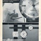 Vintage 1965 Atlantic Seahunter Watch Advert Switzerland Vintage 1960s Swiss Print Ad