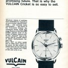 Vintage 1965 Vulcain Cricket Watch Advert Brilliant Past Promising Future Swiss Print Ad